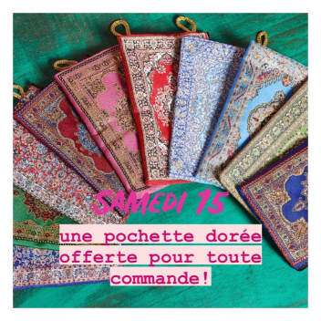C'est la semaine Antoine & Lili ✨  une pochette dorée offerte pour toute commande!!